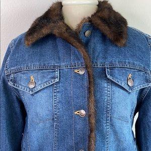 Wilsons leather Maxima denim jacket, small